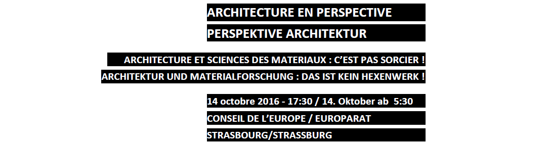 "Presentation of the project, ""ARCHITECTURE IN PERSPECTIVE"" conference"